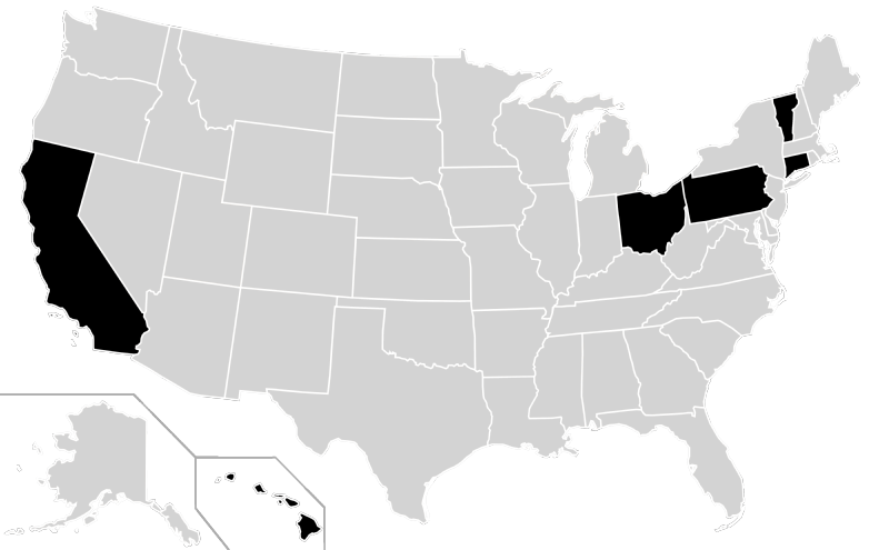 File:Home States of Peace and Freedom Party Presidential Nominees Locator  Map (United States - Nominees PNG