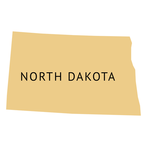 North dakota state plain map Transparent PNG - North Dakota PNG