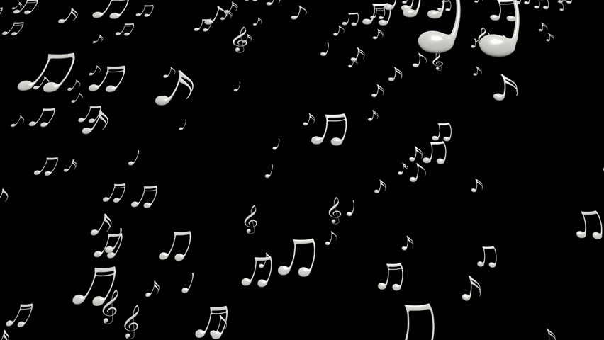 Animated falling white music notes on transparent background. Each music  note is a 3d model - Note HD PNG