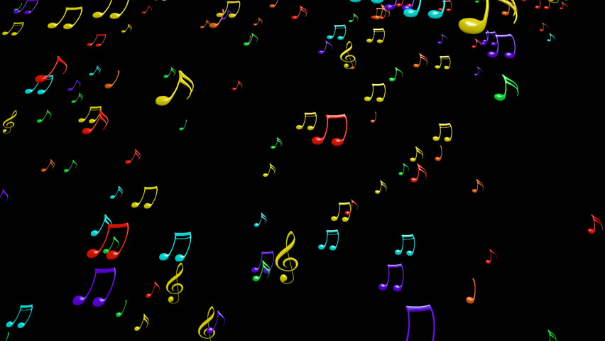 Each Music Note Is A 3d Model With Light Reflection On Surface. (Alpha  Channel Embedded In HD PNG File). Stock Footage Video 9133163 | Shutterstock - Note HD PNG