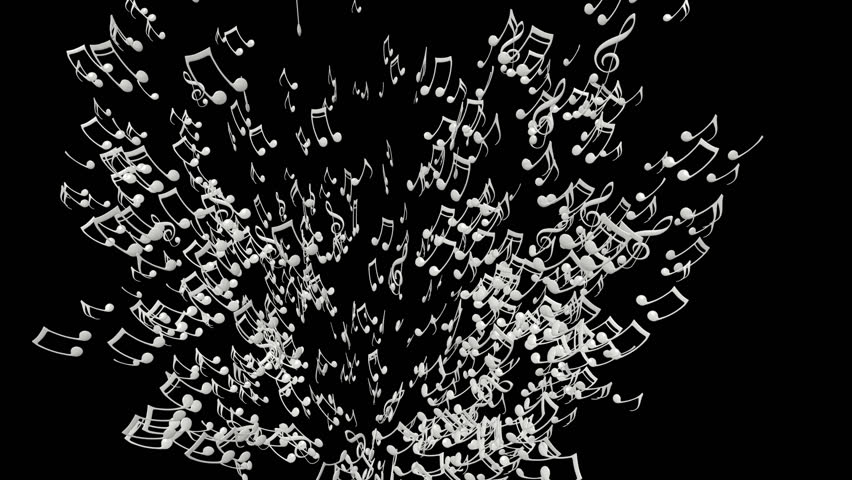 Each Music Note Is A 3d Model With Light Reflection On Surface. (Alpha  Channel Embedded In HD PNG File). Stock Footage Video 9133217 | Shutterstock - Note HD PNG