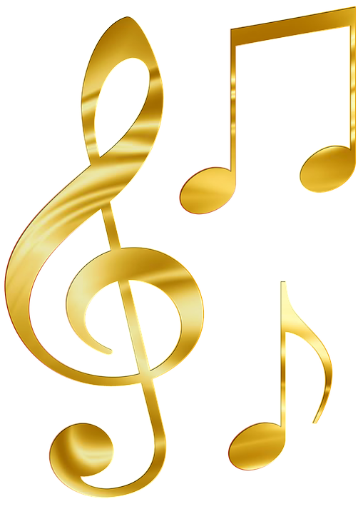 sheet music gold png - Note HD PNG