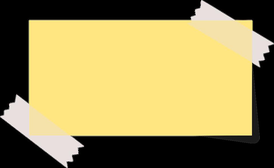 Note, Sticky Note, Yellow, Ta