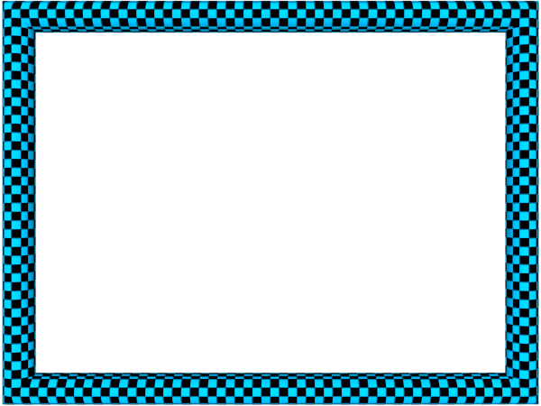 Blue-black-funky-checker-rectangular-powerpoint-border.png - November PNG Border