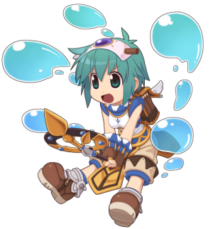 Cute and happy female Super Novice is casting level 5 Water Ball to kill  whatever sheu0027s looking at. - Novice PNG