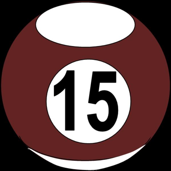 Billiard Ball 13 - Number Fifteen PNG