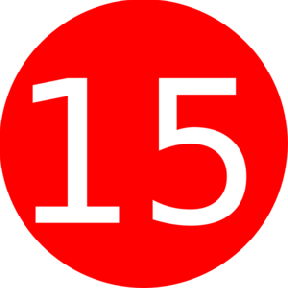 Cliparts Number 15 - Number Fifteen PNG