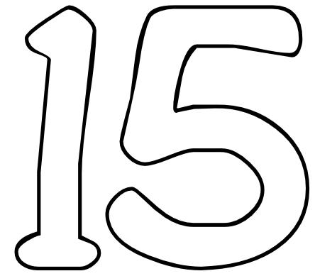 Number Fifteen PNG - 66556