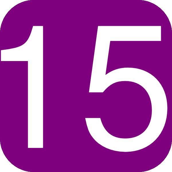 Number Fifteen PNG - 66547
