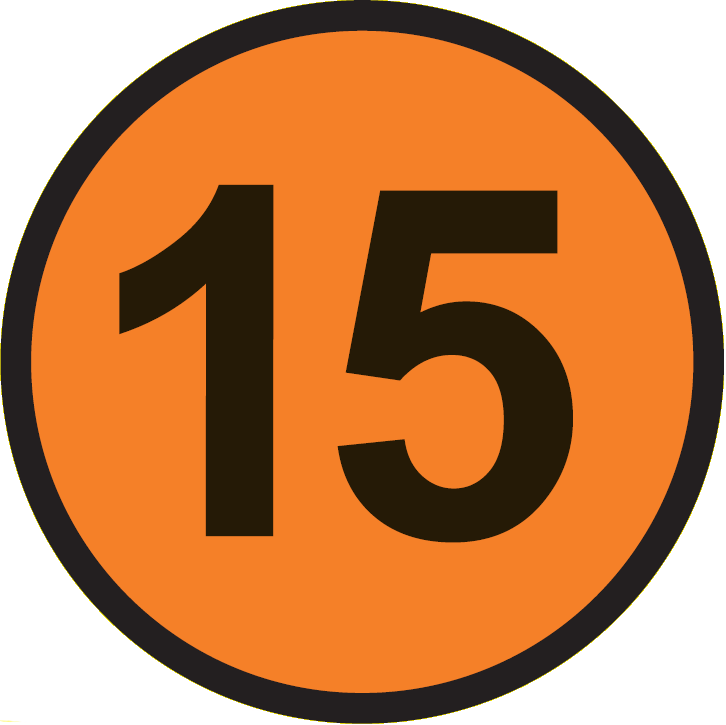 File:VET 15 circle.png - Number Fifteen PNG