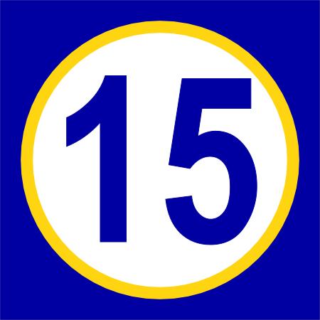 Number Fifteen PNG - 66563