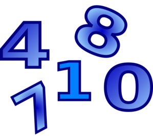 Numbers Clip Art - Numbers PNG