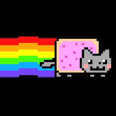 Nyan Cat Long Rainbow - Nyan Cat PNG