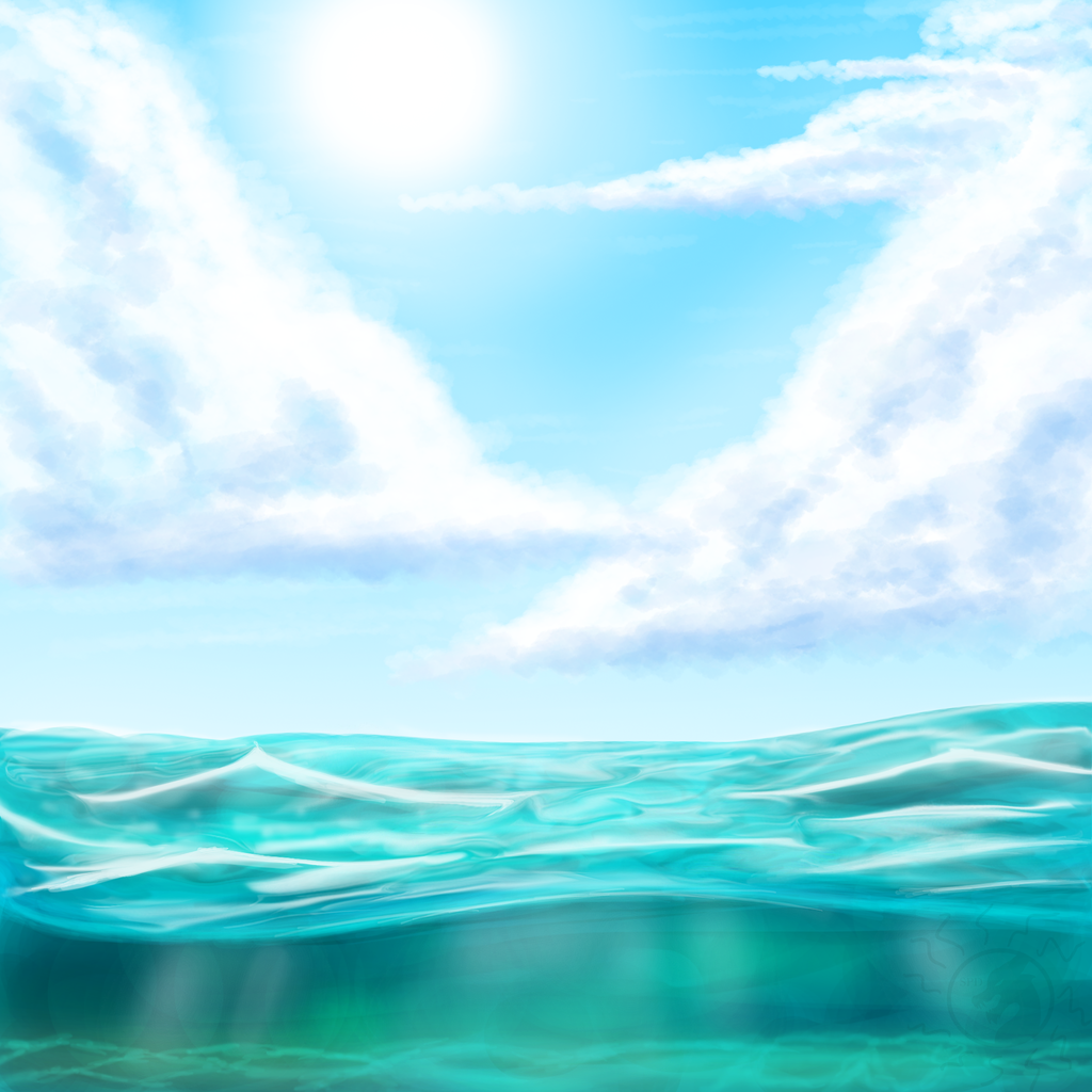 Ocean Background PNG HD - 129015
