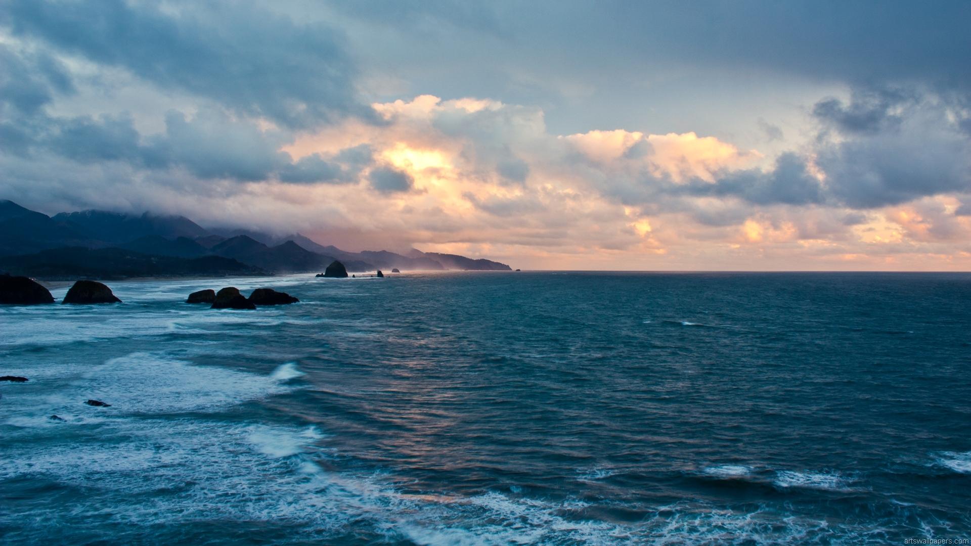 Ocean Background PNG HD - 129021