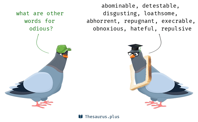 Synonyms for odious - Odious PNG