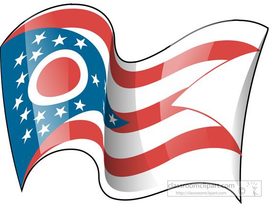 ohio-state-flag-waving-clipart.jpg - Ohio Flag PNG