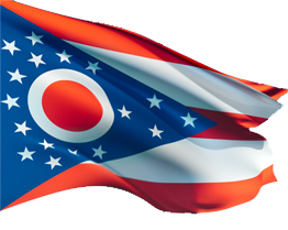 State seal flag - Ohio Flag PNG
