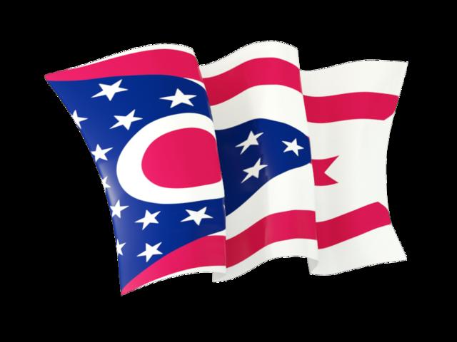 Waving flag. Download flag icon of Ohio - Ohio Flag PNG