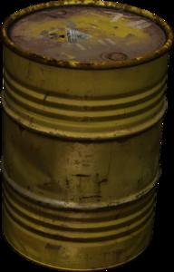 Oil Barrel (Yellow) - Oil Barrel PNG