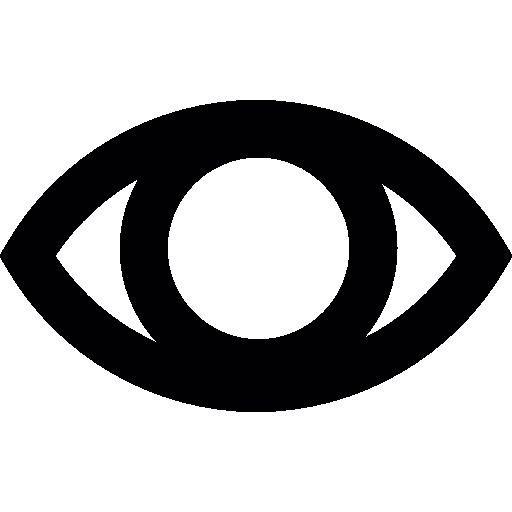 Ojo en blanco icono gratis - Ojo PNG