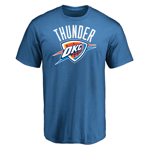 Menu0027s Oklahoma City Thunder Design Your Own Short Sleeve T-Shirt- - Oklahoma City Thunder PNG