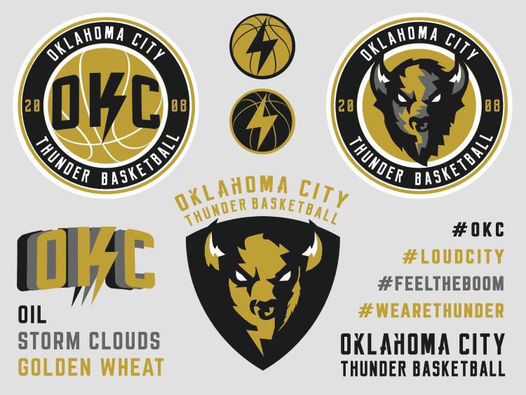 Oklahoma City Thunder Rebrand Concept - Oklahoma City Thunder PNG