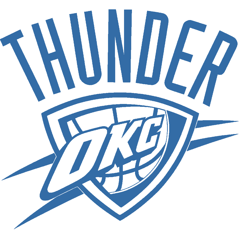 Wall sticker: customization of NBA Oklahoma City Thunder (OKC) - Oklahoma City Thunder PNG