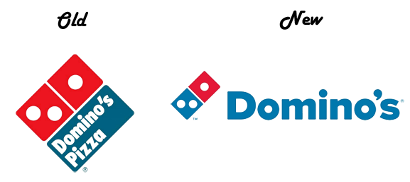 dominos-old-vs-new-logo - Old And New PNG