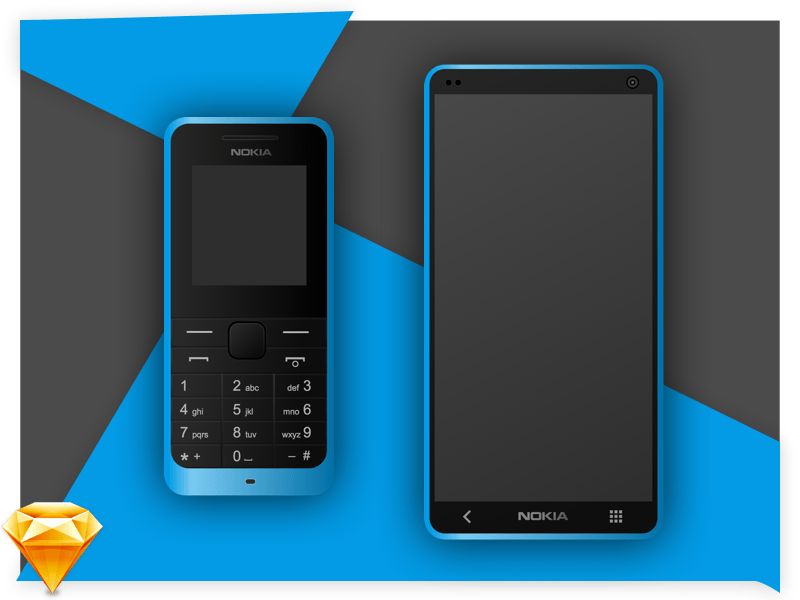 Old and New Nokia Concept - Old And New PNG