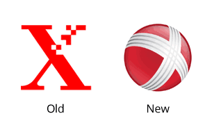 old-xerox-symbol-new - Xerox Logo PNG - Old And New PNG