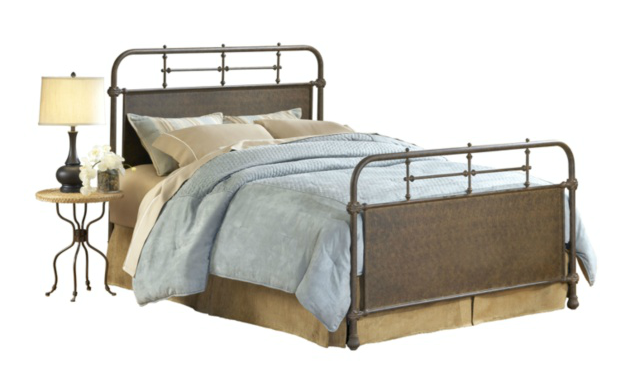 HSN Hillsdale Furniture Kensington Bed - Old Rust Finish, Queen - Old Bed PNG