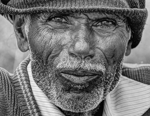 Curious old man by Shrikrishna Bhat - Black u0026 White Portraits u0026 People (  curious, - Old Man PNG Black And White
