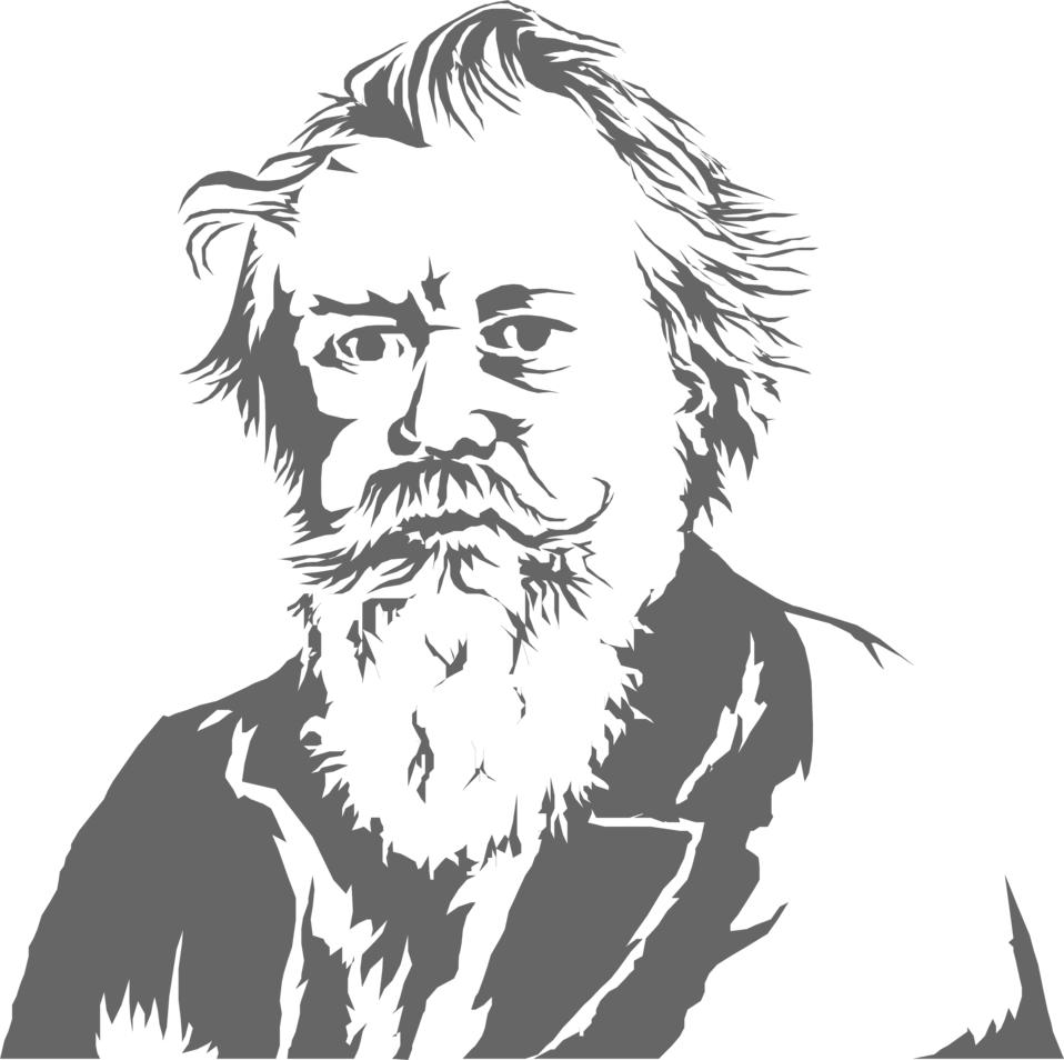 Illustration of an old man with a beard : Free Stock Photo ? - Old Man PNG Black And White