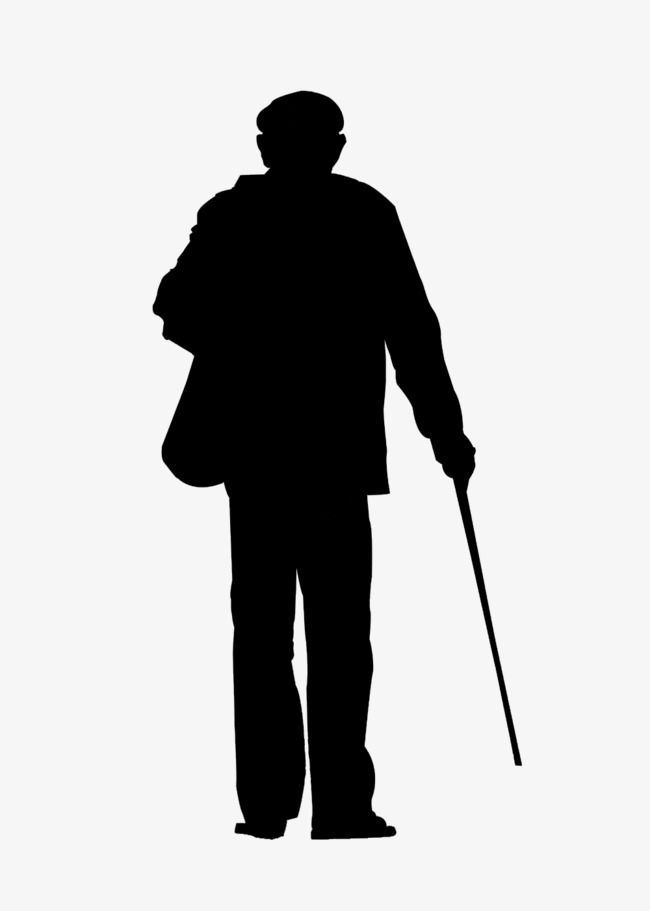 lonely old man back, Old Man Back, Lonely Elderly, Old People PNG Image - Old Man PNG Black And White