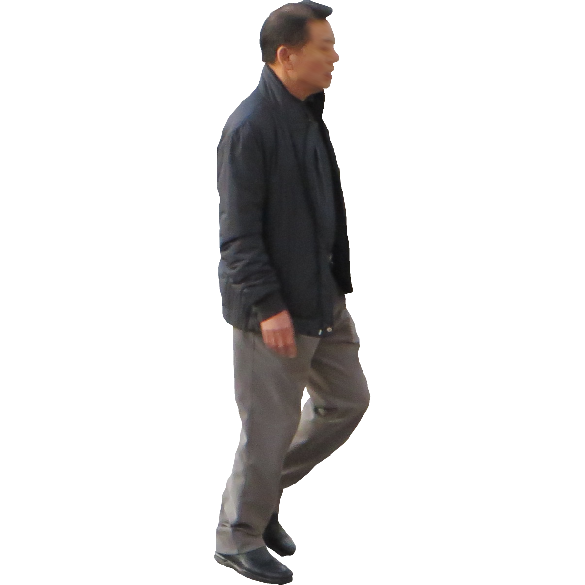 Asian-Man.png - Old Man Standing PNG