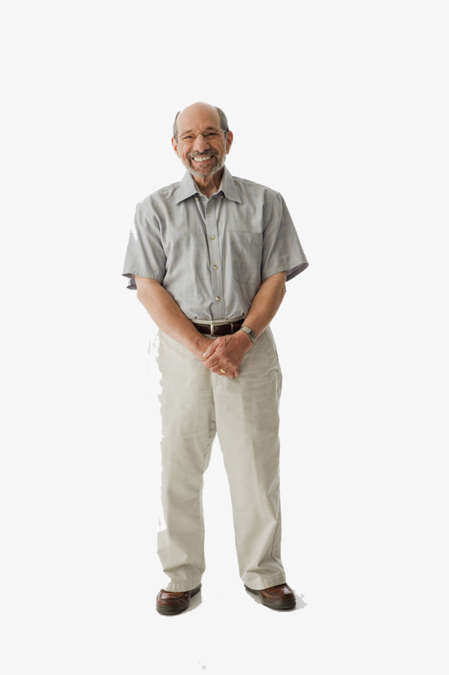 Old Man Standing PNG