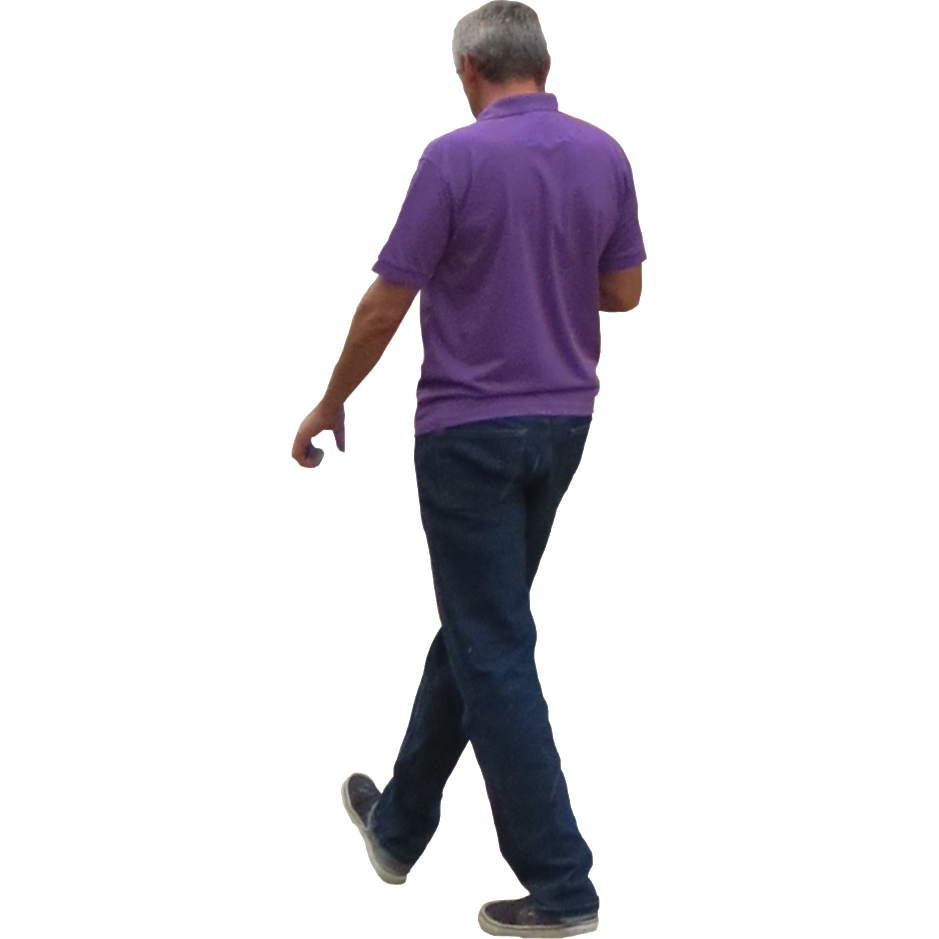 Old Man Standing PNG - 164796
