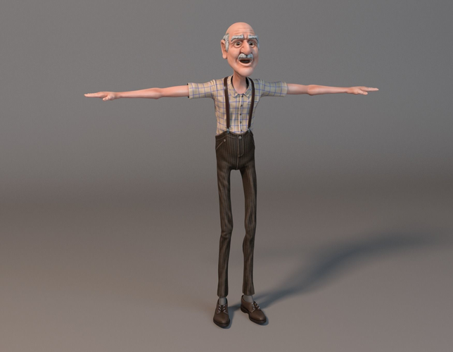 Old Man Standing PNG - 164797