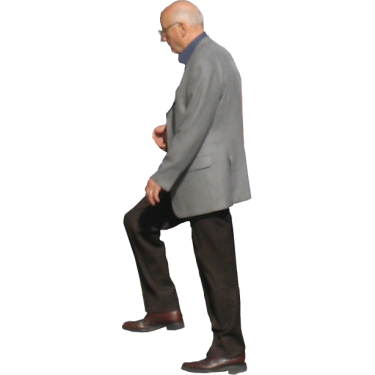 Old Man Walking Up Stairs2.png - Old Man Standing PNG
