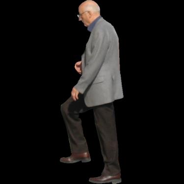 Old Man Walking Up Stairs2.pn