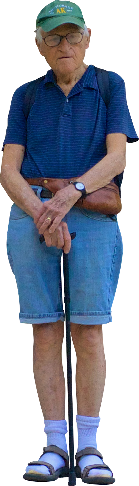 Old Man Standing PNG - 164799
