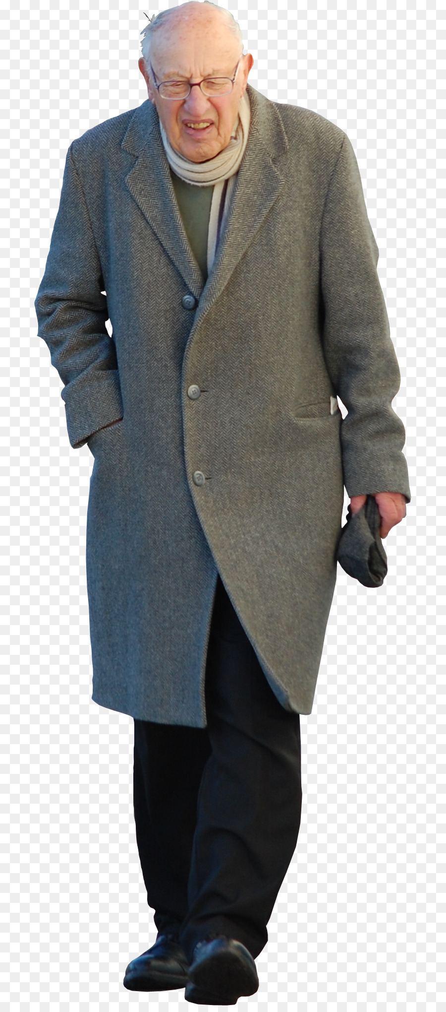 Overcoat Suit Trench coat - OLD MAN - Old Man Standing PNG