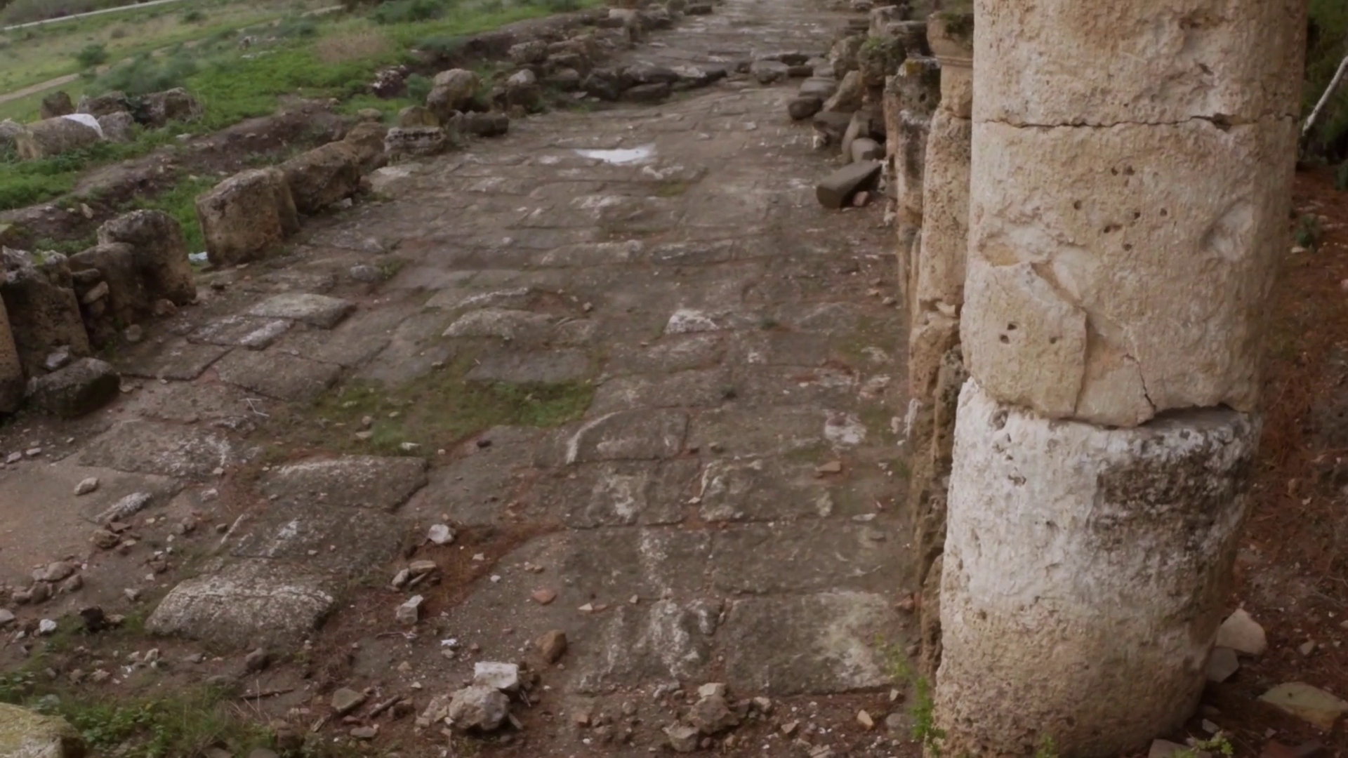Old Roman Road Ruins Ancient Town Salamis East Cyprus Famagusta Stock Video  Footage - VideoBlocks - Old Roman Road PNG