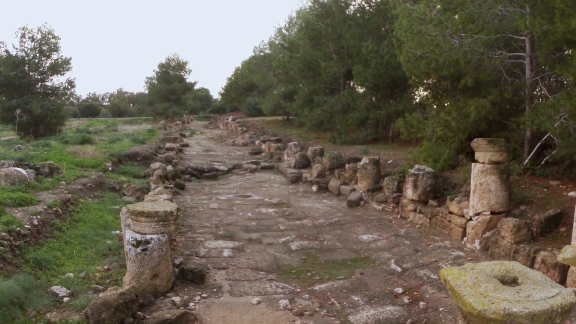 Old Roman Road With Remaining of Colonnade Ruins Ancient Town Salamis East  Cyprus Famagusta Stock Video Footage - VideoBlocks - Old Roman Road PNG