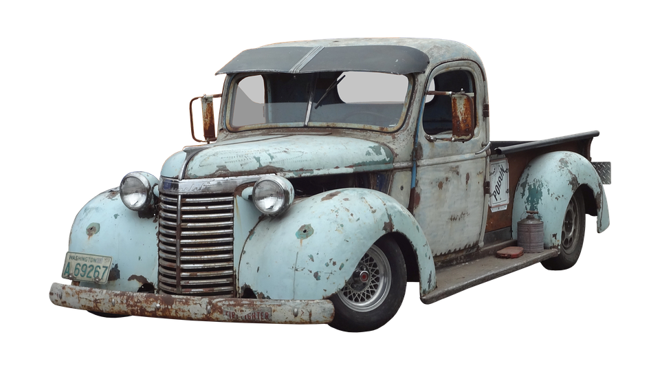 Auto, Pickup, Oldtimer, Usa, American - Old Truck PNG HD