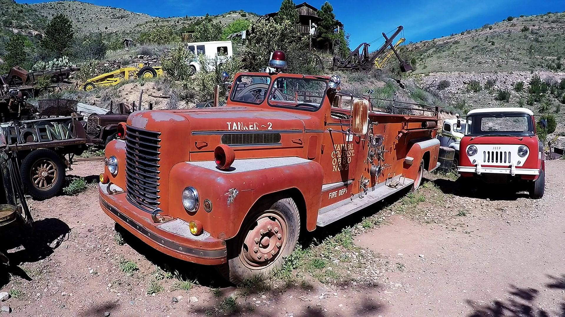 Old Time Fire Truck Gold King Mine Ghost Town Stock Video Footage -  VideoBlocks - Old Truck PNG HD