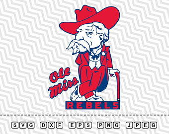 SVG Ole Miss Rebels Logo Vector Layered Cut File Silhouette Cameo Cricut  Design Template Stencil Vinyl - Ole Miss PNG