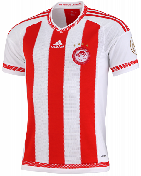 To celebrate the 90-years anniversary of the Olympiacos, who were founded  on 10 March 1925, the new Olympiacos FC Kit features a special golden badge  on the PlusPng.com  - Olympiacos Fc PNG