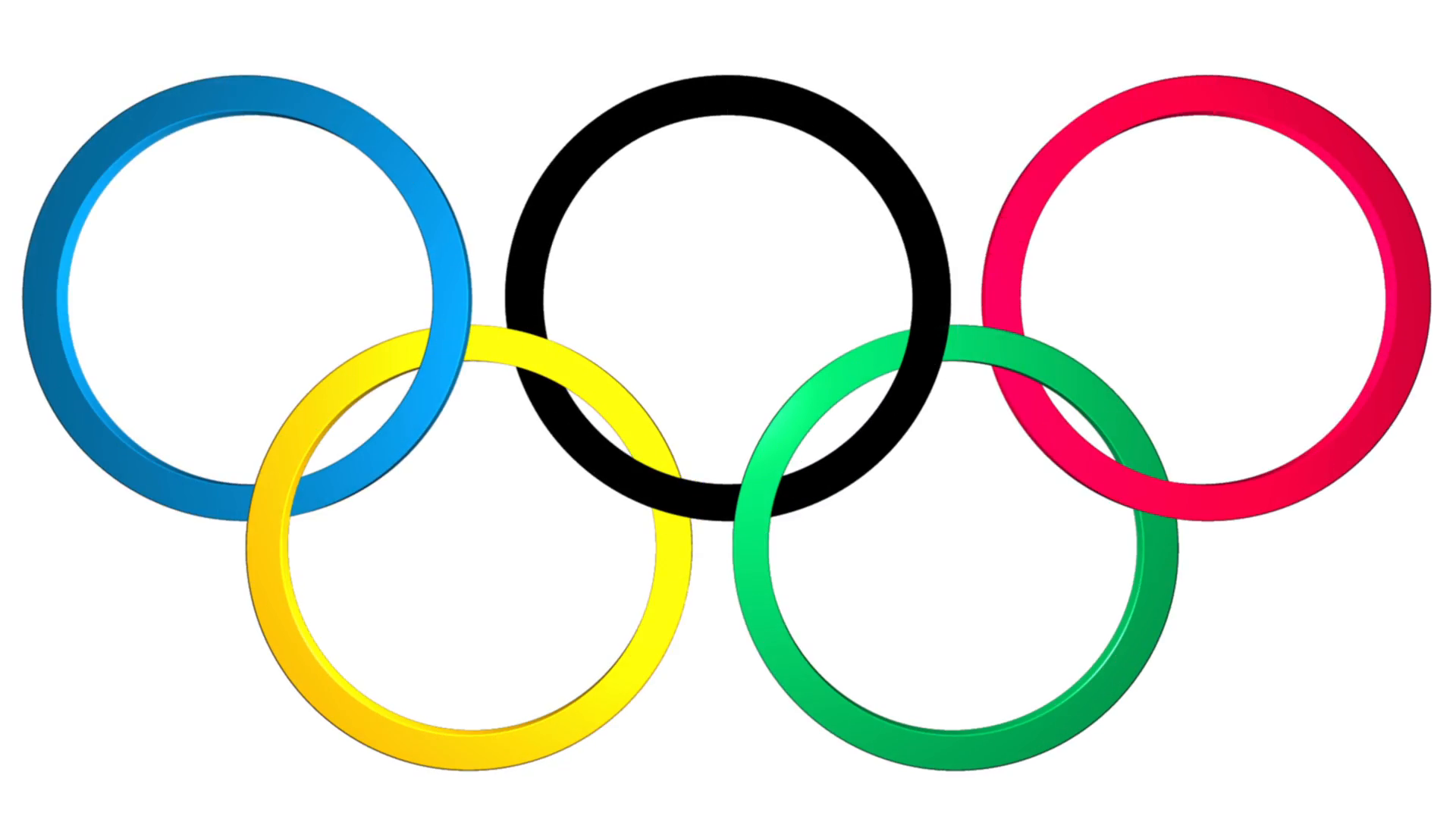 Animation: Background with the 3d Olympic rings with appearance and  disappearance. The symbol of the Olympic games. Each ring symbolizes a  continent. - Olympic PNG